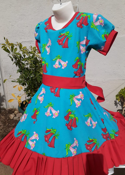 Vestido De Huasa Niña Nuevo