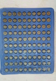 10 Cartelapilhas Para Relógio Ag1. Cartela Com 100 Unidades