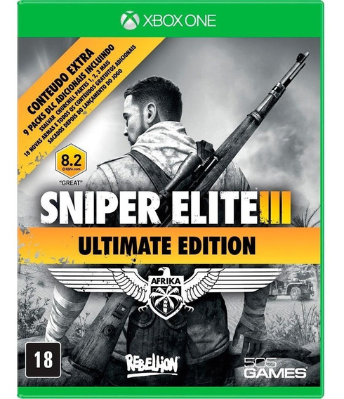 Game Xbox One Sniper Elite 3 Ultimate Edition Original Novo