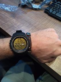 Relógio Esportivo Digital Atlantis Detalhes Dourado