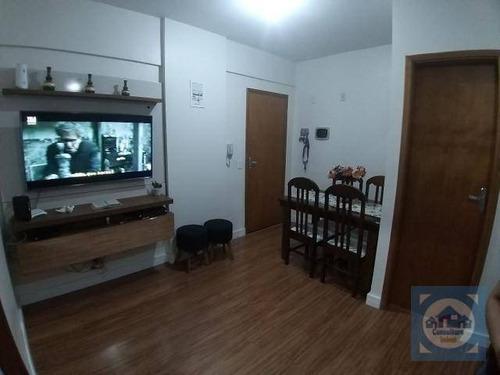 Apartamento Com 1 Dormitório À Venda, 38 M² Por R$ 181.000,00 - Parque São Vicente - São Vicente/sp - Ap5786