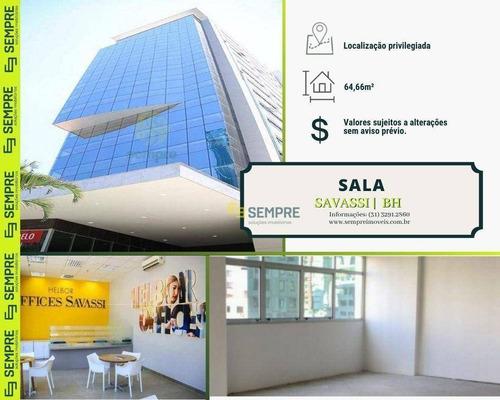 Imagem 1 de 30 de Salas À Venda, 64 M² - Savassi - Belo Horizonte/mg - Sa0123