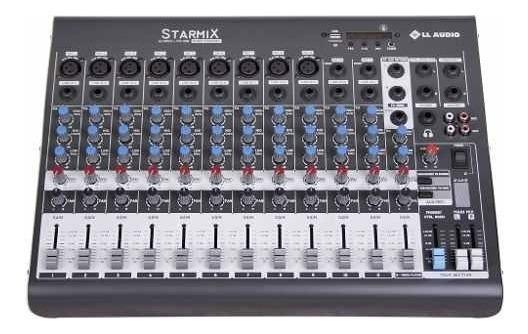Mesa De Som 12 Canais Starmix Xms1202d Com Usb/bt