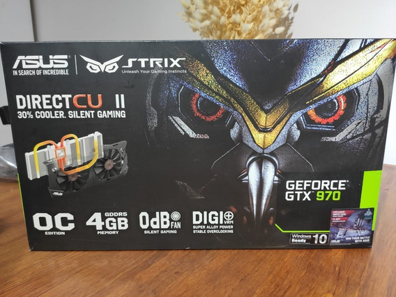 Gtx 970 Asus Strix Directcu Il 4gb - Gpu