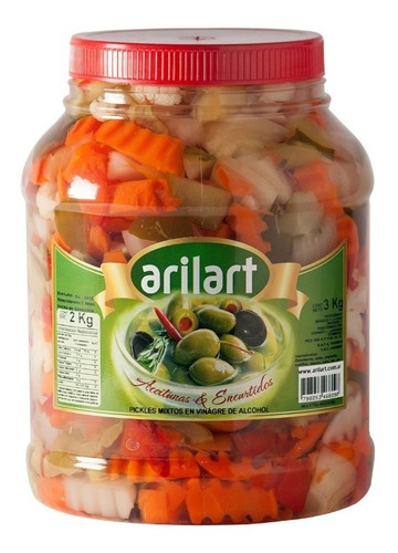 Pickles Mixtos En Vinagre Clásicos X 2 Kg - Arilart