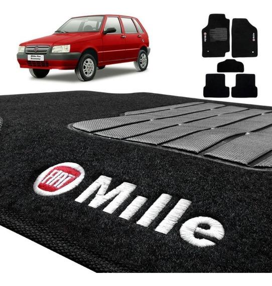 Tapete Carpete Fiat Uno Mille 85 A 05 06 2007 5 Peças Preto