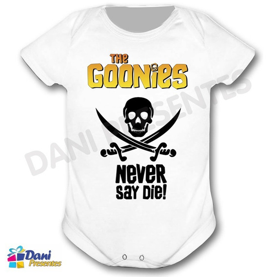 Body The Goonies - Never Say Die! - 100%algodão