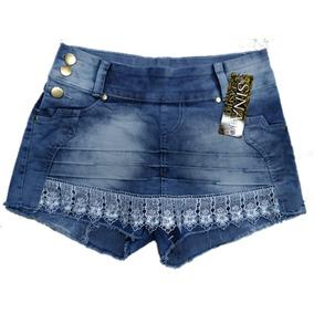 Roupas Femininas Shorts Saia Jeans Feminino Com Lycra 36ao44