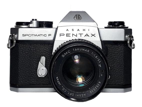 Câmera Fotográfica Pentax Asahi Spotmatic F No Estado