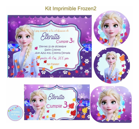Kit Imprimible Frozen 2 Modelo1