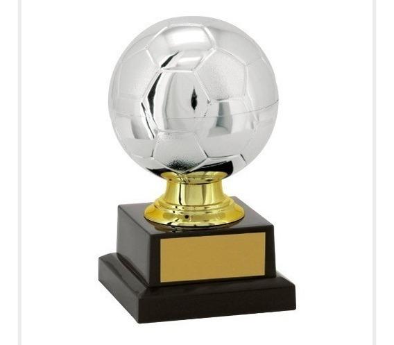 Trofeu Artilheiro Goleador Bola Futebol Campeão 14 Cm