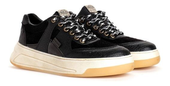 Zapatillas Rocas Tenis Retro Black