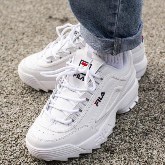 Zapatillas Fila Disruptor 2 Originales Para Mujer/ 36 Al 40