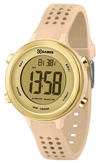 Relógio Xgames Feminino Digital Xfppd066 Rose Dourado