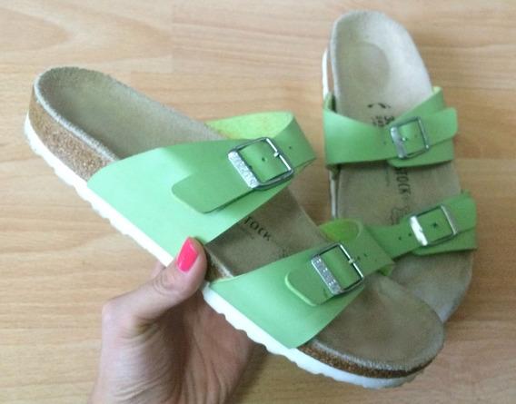 Zapatos Sandalias Birkenstock Negras Piel Fina Originales!!