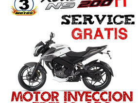 Rouser Ns 200 Fi Nacked Sport Inyeccion Abs Mega Black Frida