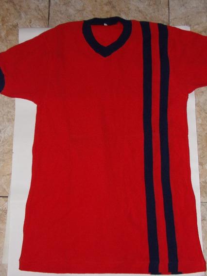 Antigua Camiseta De Pique - Roja Y Azul Años 70 Talle 38 Grande