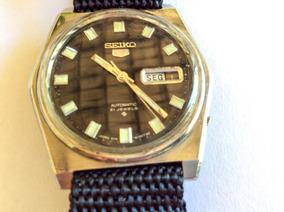 Relógio Seiko 36 Mm 2 Pulseiras, Fundo Negro, À Prova D