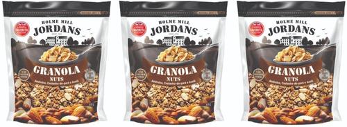 3 X Granola Jordans Nuts Amendoas Castanha-do- Pará Avelã