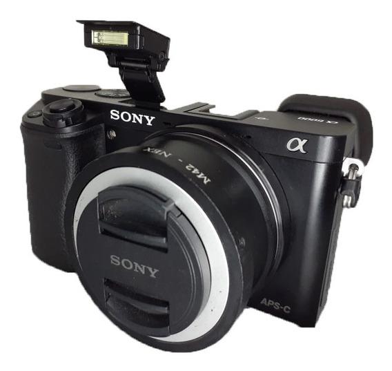 Câmera Mirrorless Sony Alpha 6000 Seminova Perfeito Estado