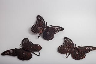 Placas Home Interiors Mariposas Del Bosque Tipo Percheros