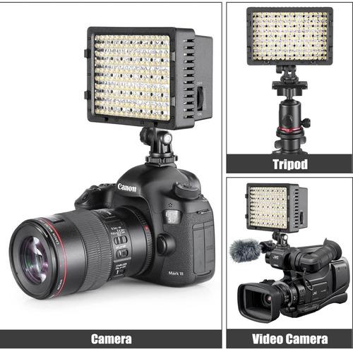 Luz 160 Led Para Camara Video Fotografía Y Trípode Neewer Mercado Libre