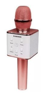 Microfono Karaoke Inalámbrico Ranser Mc-ra70 Gr / Ro