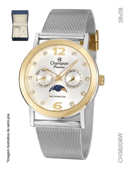 Kit Relógio Analógico Social Champion Ch38208w
