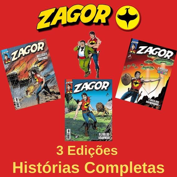 Revista Hq Gibi - Zagor 166, 167 E 168 - Histórias Completas