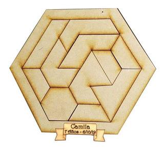 Juegos De Ingenio Hexagonal Didactico Rompecabeza Fibrofacil
