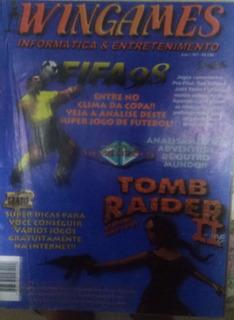 Revista De Videogames Wingames Nº 1 Tomb Raider 2 E Fifa 98