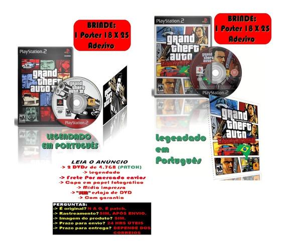 Gta Grand Theft Auto 3 + Liberty City Stories + Brinde Post