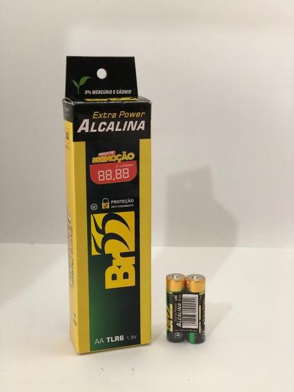 Pilha Alcalina Aa 1,5v Lr6 Caixa 24 Unidades