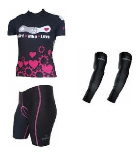 Conjunto Penks Bike Love Camisa + Bermuda +manguito