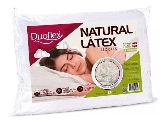 Travesseiro Natural Flocos De Látex 50x70cm - Duoflex - Imbatível