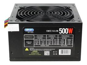 Fonte 500w Real Knup Kp-522 Box Com 6 Meses De Garantia