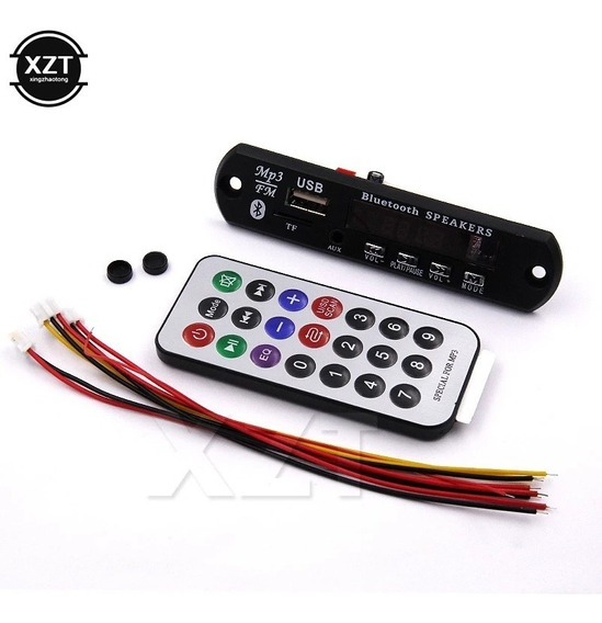 Kit 5 Placa Para Amplificador Bluetooth Mp3 Usb Auxiliar