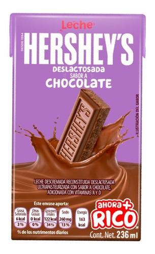 Imagen 1 de 3 de Leche Deslactosada Hershey's Sabor Chocolate 236 Ml