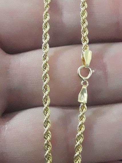 Cordão Baiano Corrente 3.4 Grama Tam 45cm Ouro 18k + Brinde