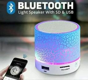 Caixa De Som Bluetooth Com Luminária De Led Rgb Neon 5w