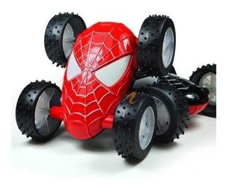 Spiderman Auto Friccion Obstaculos Se Da Vuelta Negro Rojo
