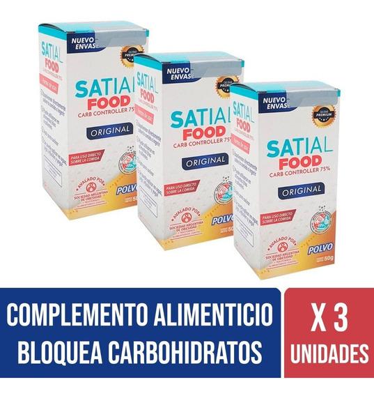 Satial Food Bloquea Carbohidratos Polvo Combo X 3