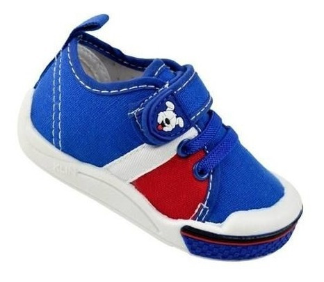 Tênis Klin Toy Menino Azul Com Velcro - 942151