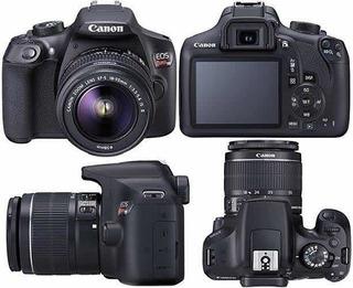 Cámara Fotográfica Réflex Eos Rebel T6 Con Lente De 18-55mm