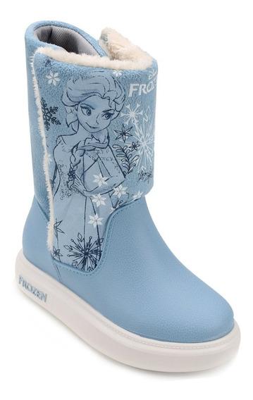 21565 Bota Infantil Disney Frozen Snowland - Azul - 23 Ao 34