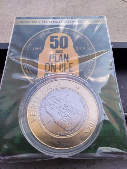2 Monedas 20 Pesos Plan Marina + Plan Dniii En Blister Uc