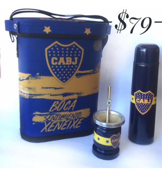 Kit Para Mate Argentino De Boca Juniors.