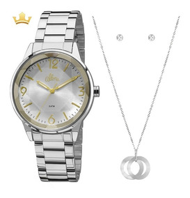 Relógio Allora Feminino Kit Al2035fat/k3k Com Nf