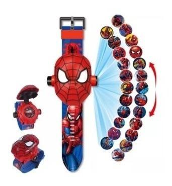 Relógio Digital Projetor De Imagens Homem Aranha Infantil