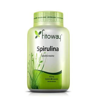Spirulina Fitoway Dieta Proteína 450mg - 60 Cápsulas